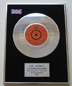 TONY BENNETT - I Left My Heart In San Francisco PLATINUM single presentation Disc